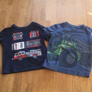 Two short sleeve truck t-shirts GAP 3t